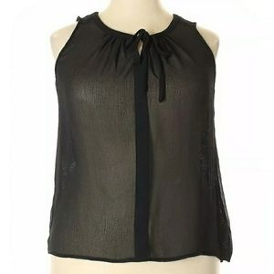 Merona XXL Sheer Sleeveless Blouse Black